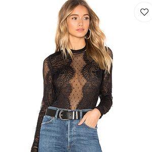 BNWOT Bardot Opia Lace Bodysuit in Black